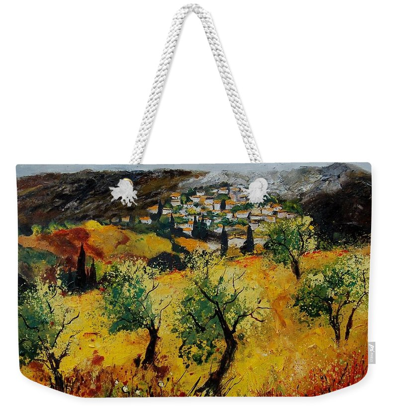 Provence Weekender Tote Bag featuring the painting Provence 789080 by Pol Ledent