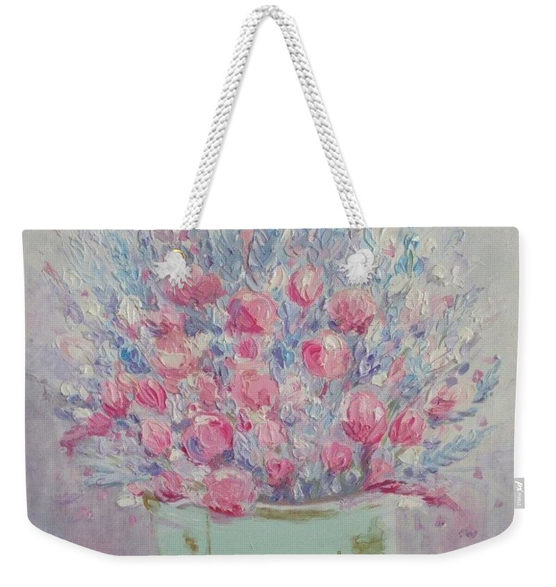 Provence Weekender Tote Bag featuring the painting Provence by Leysan Khasanova