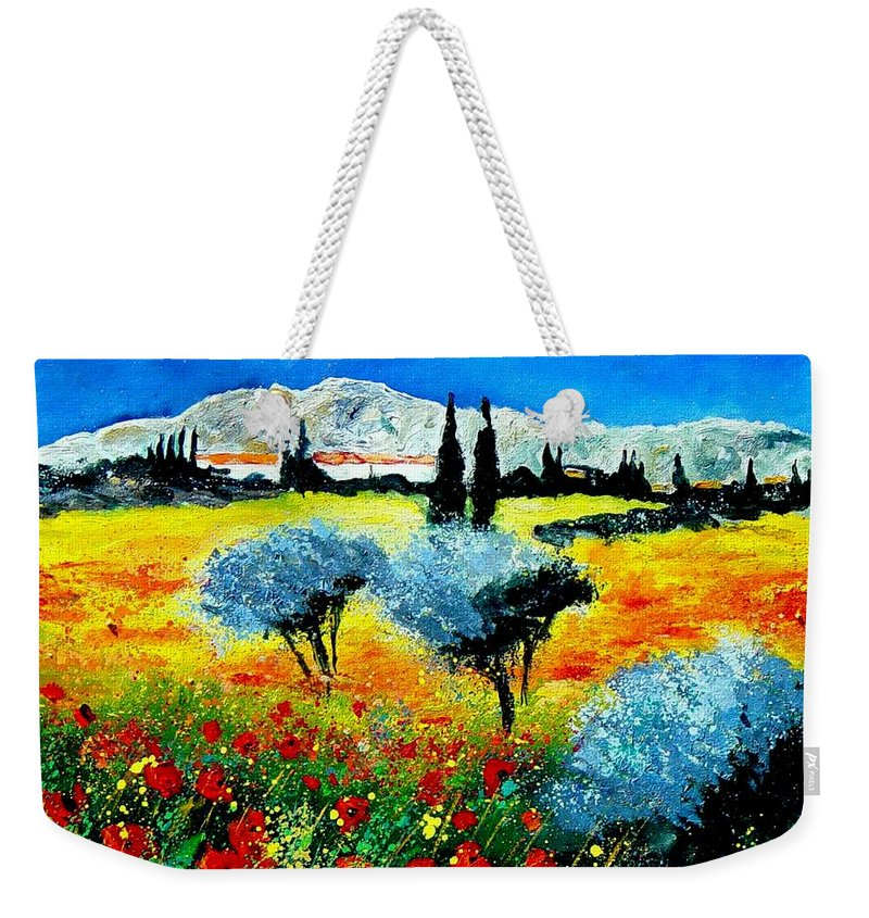 Poppies Weekender Tote Bag featuring the painting Provence by Pol Ledent