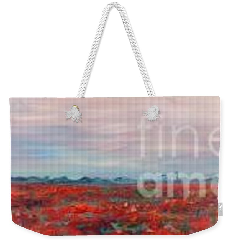 Poppies Weekender Tote Bag featuring the painting Provence Poppies by Nadine Rippelmeyer