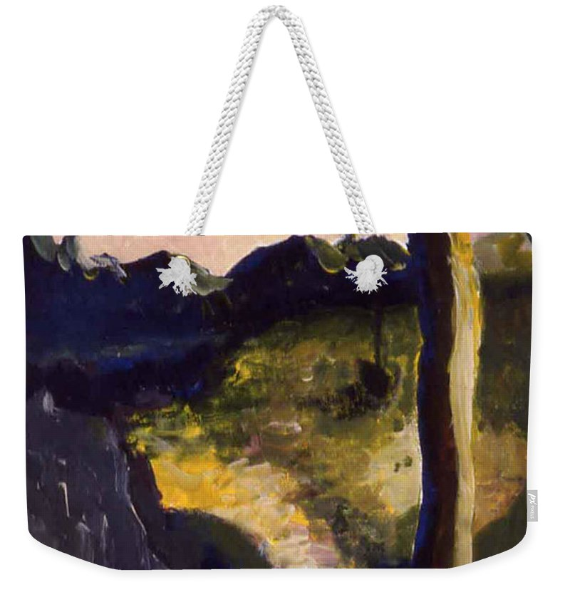 Provence Weekender Tote Bag featuring the painting Provence Tree by Pamela Canzano