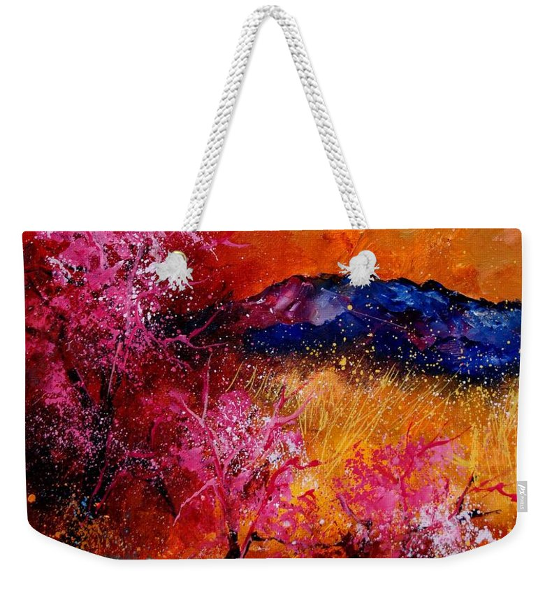 Provence Weekender Tote Bag featuring the painting Provence560908 by Pol Ledent