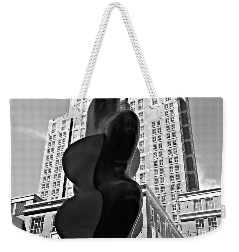 Black And White Weekender Tote Bag featuring the photograph Providence by Rick Maxwell