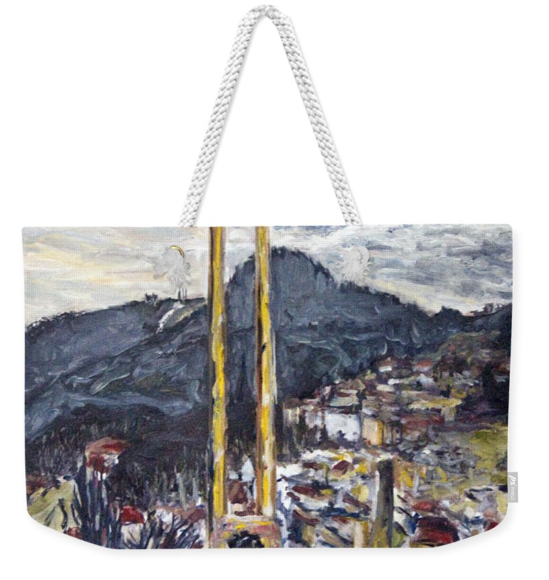 Landscape Weekender Tote Bag featuring the painting pruhled zameren na Thuny by Pablo de Choros