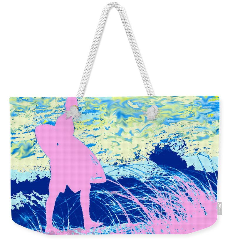 Florida Weekender Tote Bag featuring the photograph Psychadelic Beach by Ian MacDonald