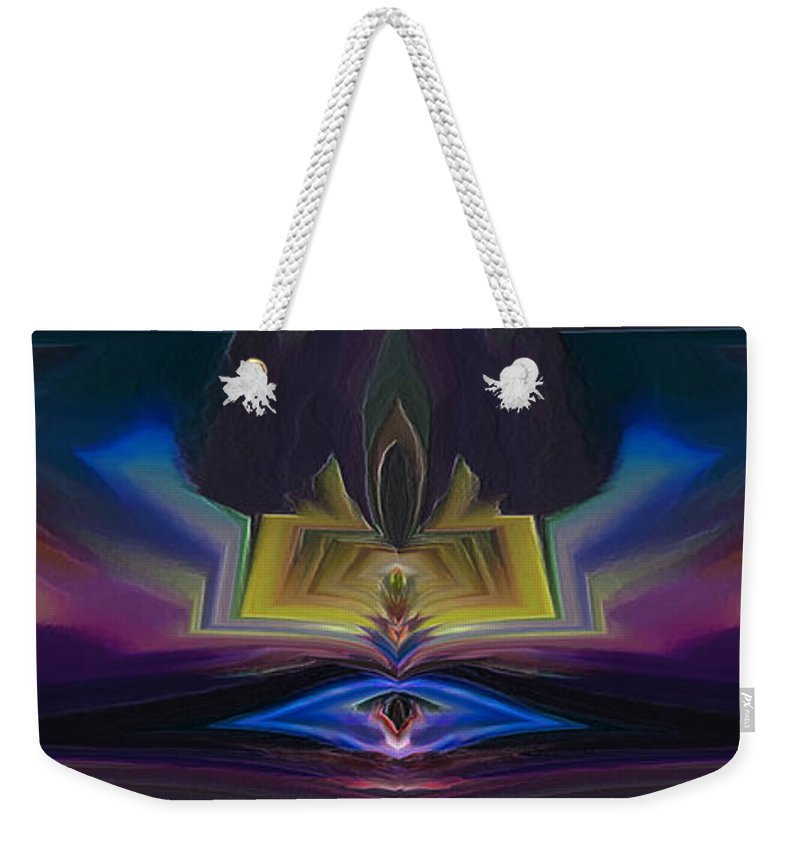 Psychedelic Weekender Tote Bag featuring the digital art Psychedelic Dream by Joseph Garcia III