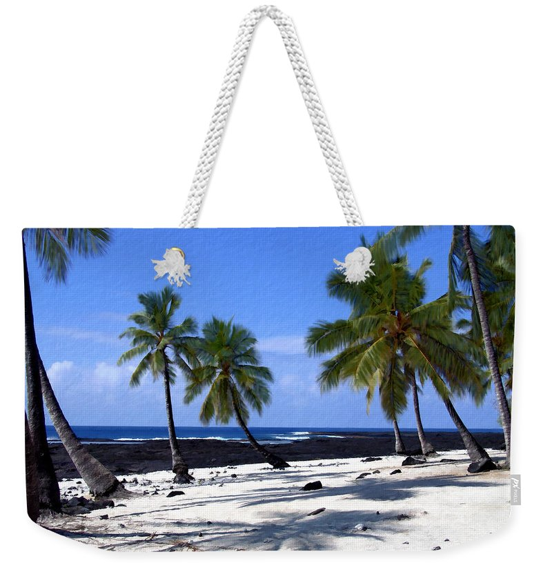 Hawaii Weekender Tote Bag featuring the photograph Pu Uhonua O Honaunau by Kurt Van Wagner