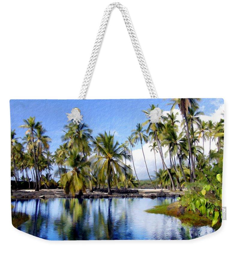 Hawaii Weekender Tote Bag featuring the photograph Pu Uhonua O Honaunau Pond by Kurt Van Wagner