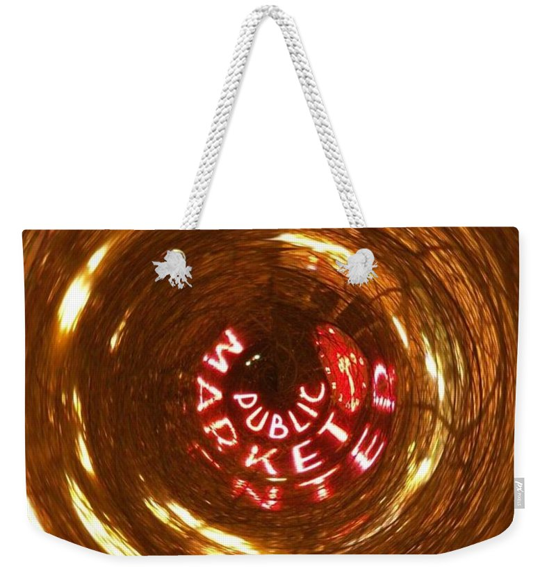 Seattle Weekender Tote Bag featuring the photograph Public Market Vortex by Tim Allen