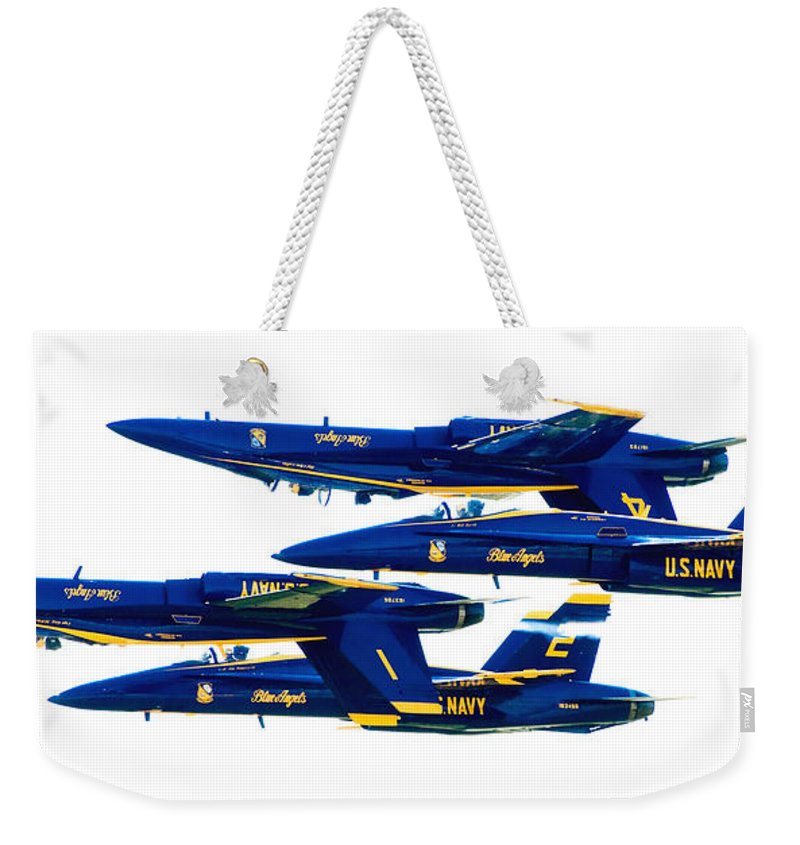 Blue Angels Weekender Tote Bag featuring the photograph Public Relations by Greg Fortier