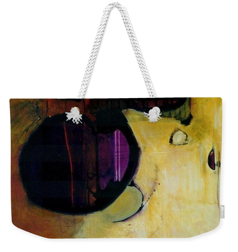 Abstract Weekender Tote Bag featuring the painting Published by Marlene Burns