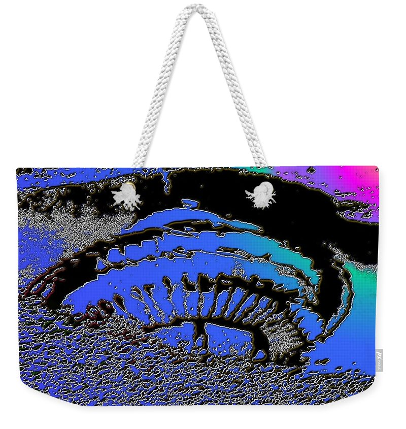 Seattle Weekender Tote Bag featuring the digital art Puddle Needle 2 by Tim Allen