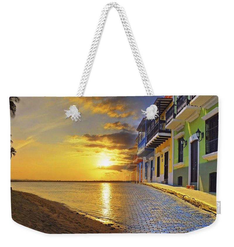 Puerto Rico Weekender Tote Bag featuring the photograph Puerto Rico Montage 1 by Stephen Anderson