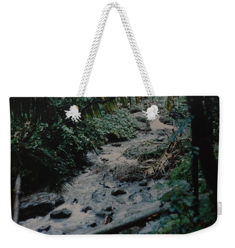 Trees Weekender Tote Bag featuring the photograph Puerto Rico Water by Rob Hans