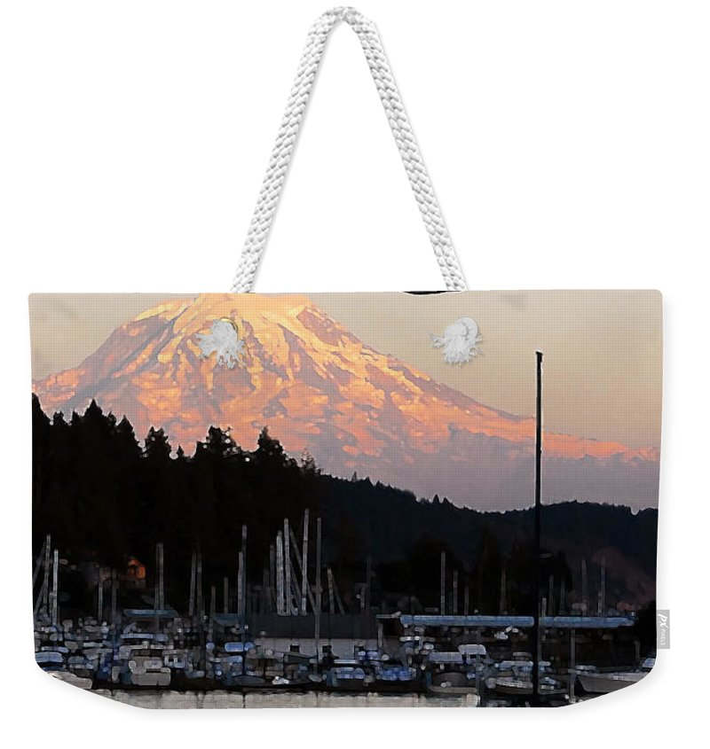 Puget Sound Weekender Tote Bag featuring the photograph Puget Sound Landing by David Lee Thompson