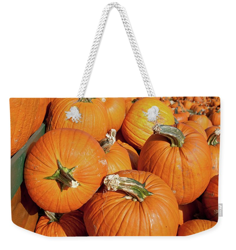 Fall Weekender Tote Bag featuring the photograph Pumkins Everywhere by David Arment