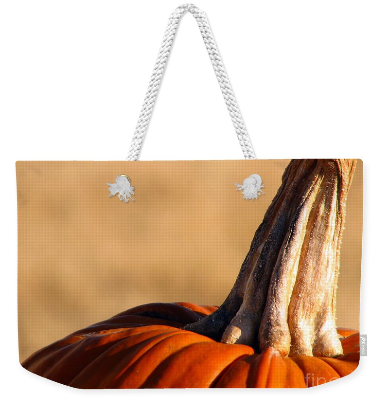 Pumpkins Weekender Tote Bag featuring the photograph Pumpkin by Amanda Barcon