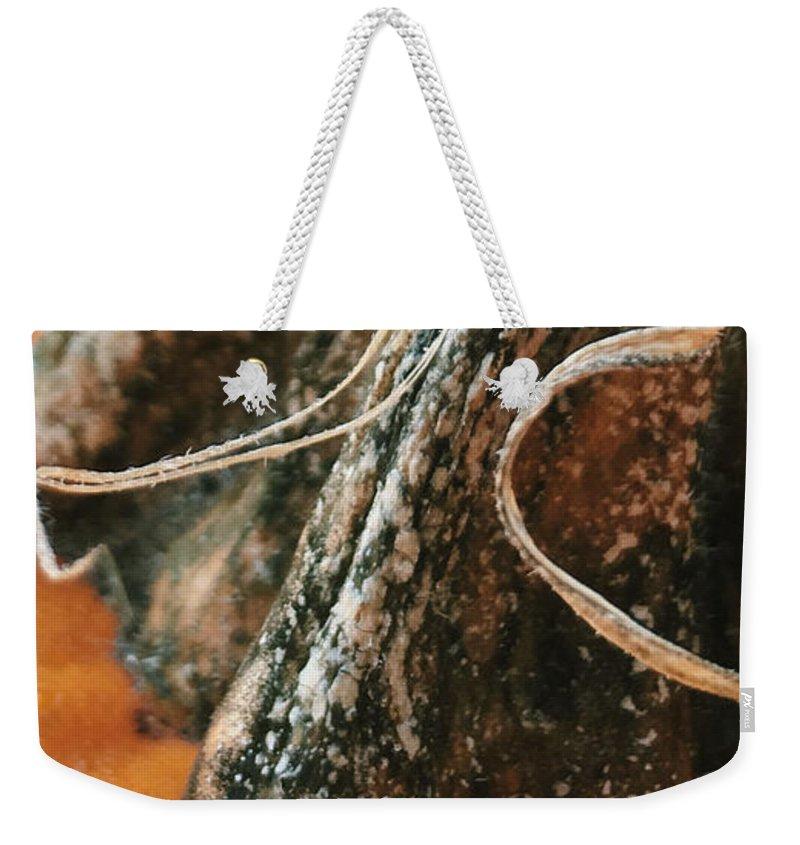 Weekender Tote Bag featuring the photograph Pumpkin by Jennifer Oakley