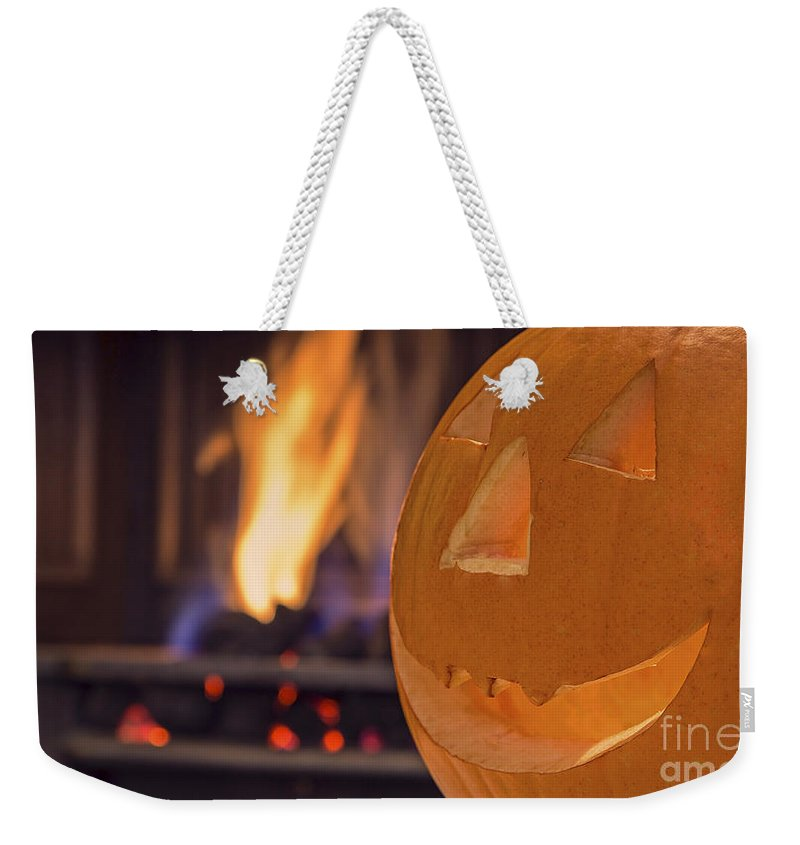 Halloween Weekender Tote Bag featuring the photograph Pumpkin by Sebastien Coell
