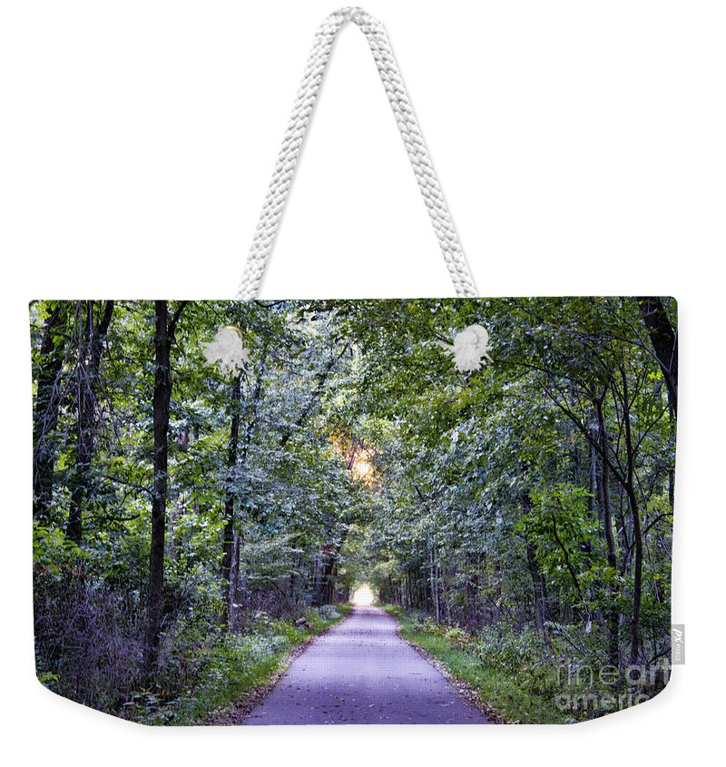 Pumpkinvine Weekender Tote Bag featuring the photograph Pumpkinvine Trail In Fall by David Arment