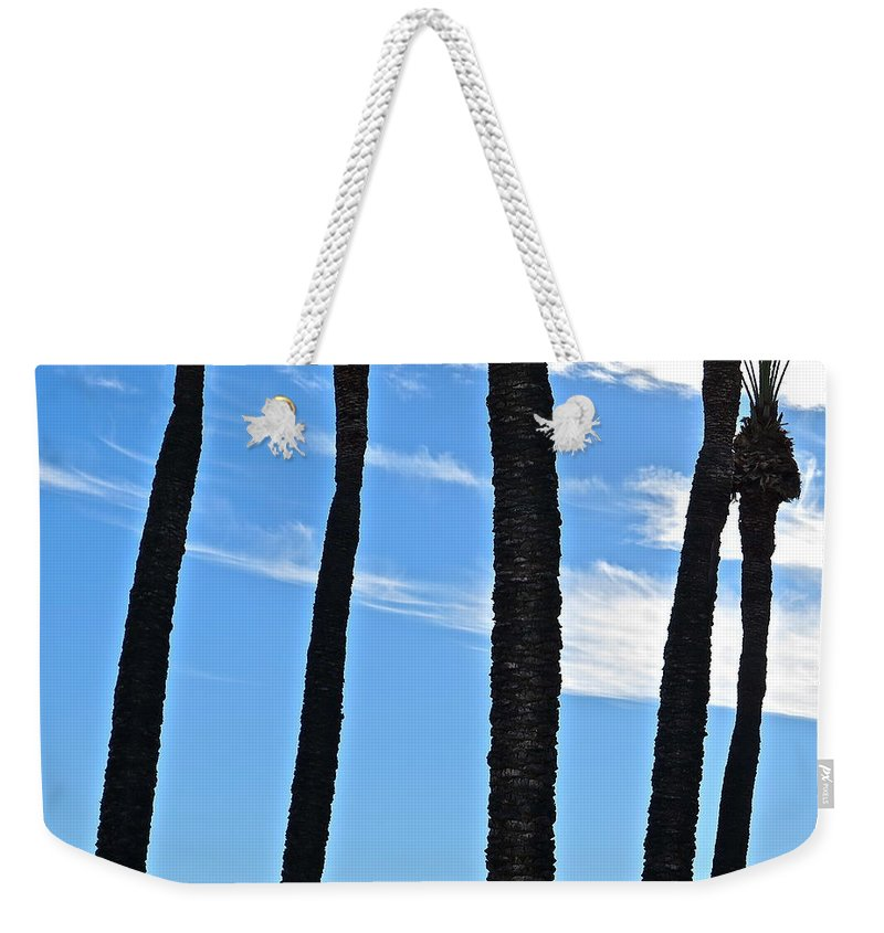Abstract Weekender Tote Bag featuring the photograph Punctuation by Bonnie See