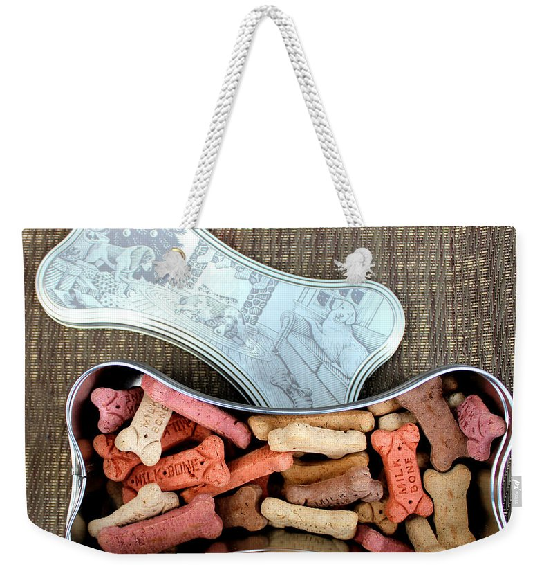 Puppy Treats Weekender Tote Bag featuring the photograph Puppy Treats by Barbara Griffin