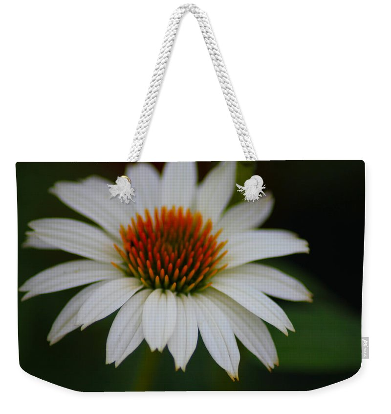 Flower Weekender Tote Bag featuring the photograph Pure And Simple by Karen Wagner