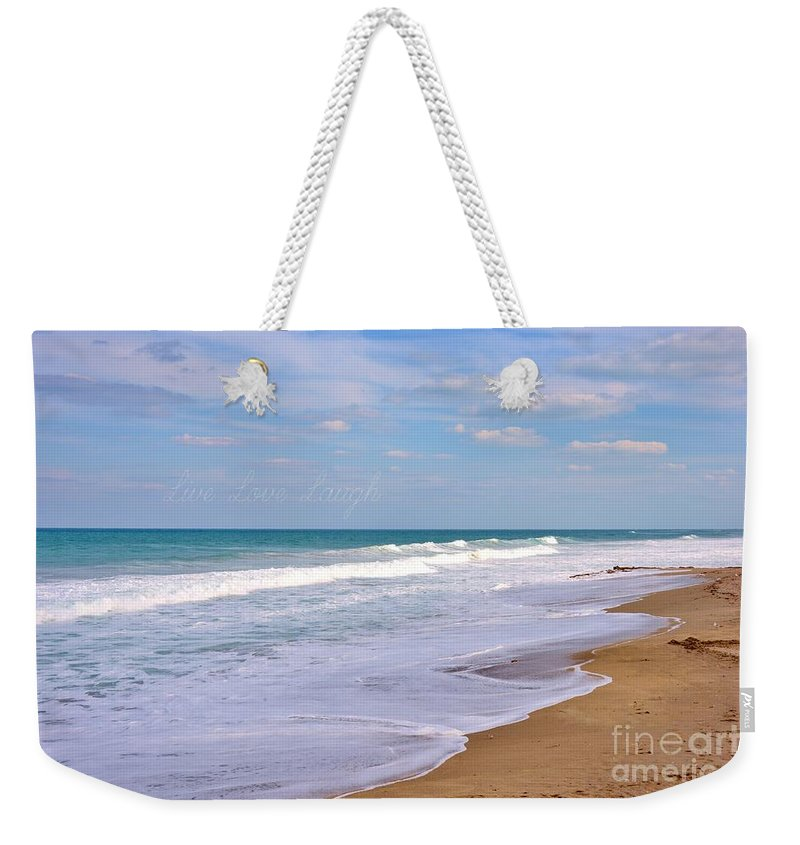 Pure Beach Weekender Tote Bag featuring the photograph Pure Beach by Lisa Renee Ludlum