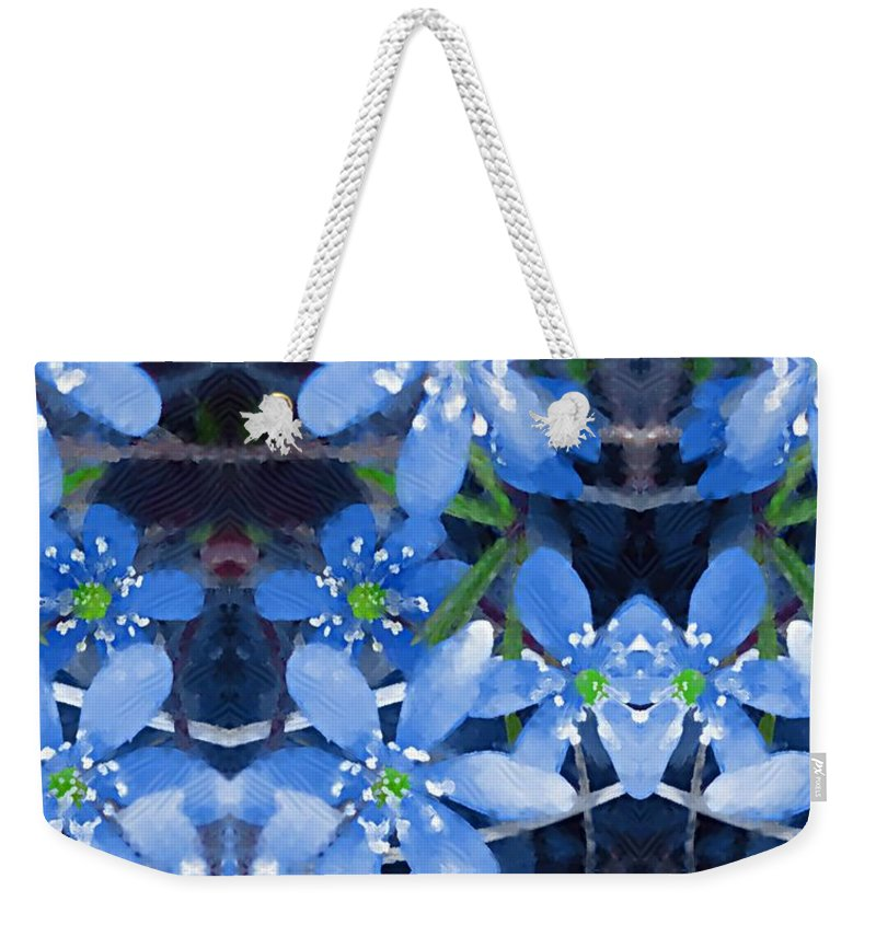 Flowers Weekender Tote Bag featuring the mixed media Pure For Life by Pepita Selles
