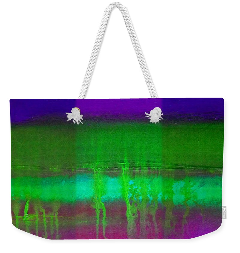 Landscape Weekender Tote Bag featuring the painting Pure Green by Charles Stuart