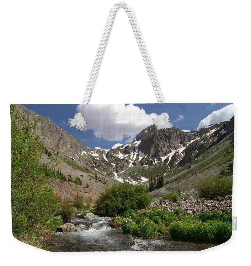 Trees Weekender Tote Bag featuring the photograph Pure Mountain Beauty by Carol Milisen