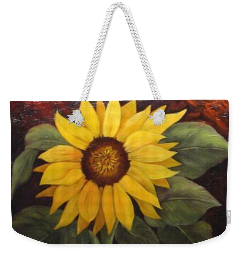 Still Life Weekender Tote Bag featuring the painting Pure Sunshine SOLD by Susan Dehlinger