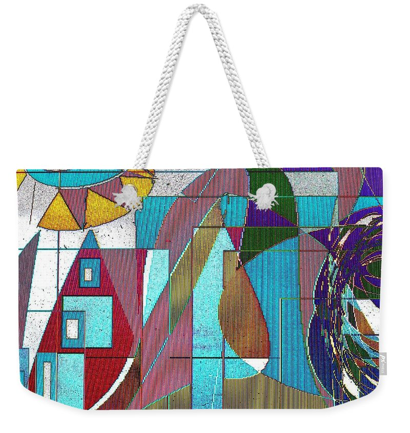 Purple Weekender Tote Bag featuring the digital art Purple And Blue by Ian MacDonald