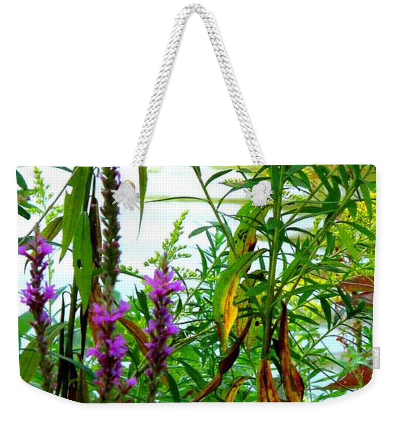 Purple Weekender Tote Bag featuring the photograph Purple And Yellow by Ian MacDonald
