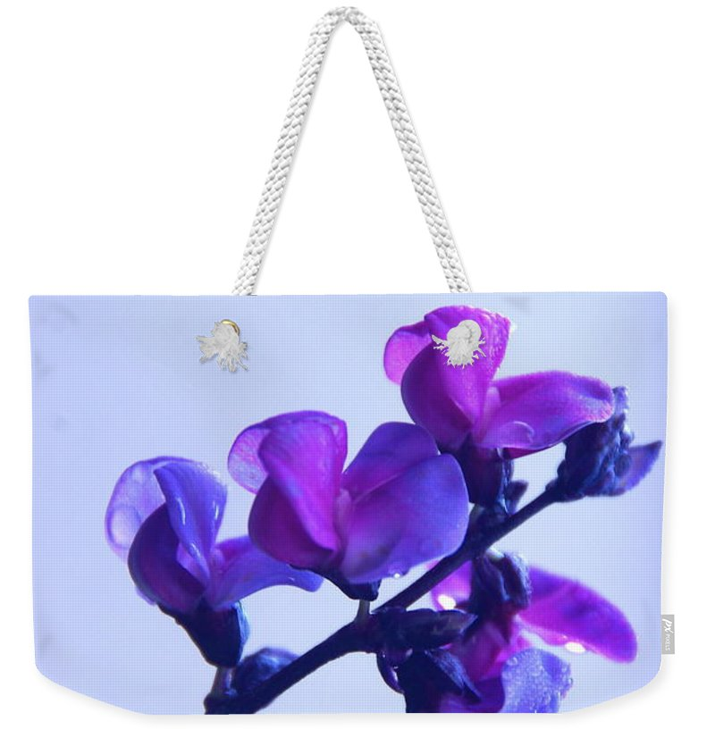 Floral Weekender Tote Bag featuring the photograph Purple by Byron Varvarigos