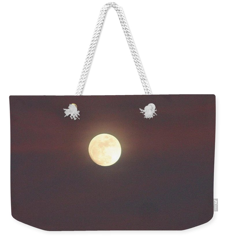 Full Moon Weekender Tote Bag featuring the photograph Purple Haze Howl by Pattie Frost