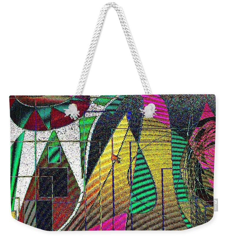 Purple Weekender Tote Bag featuring the digital art Purple Haze by Ian MacDonald
