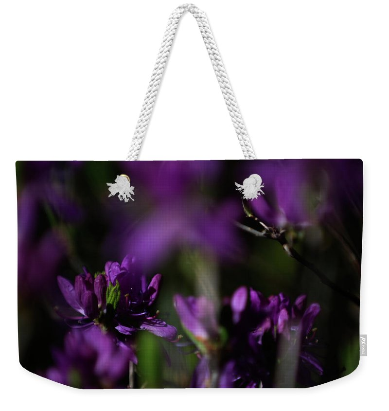 floral Beauty Weekender Tote Bag featuring the photograph Purple Haze by Paul Mangold
