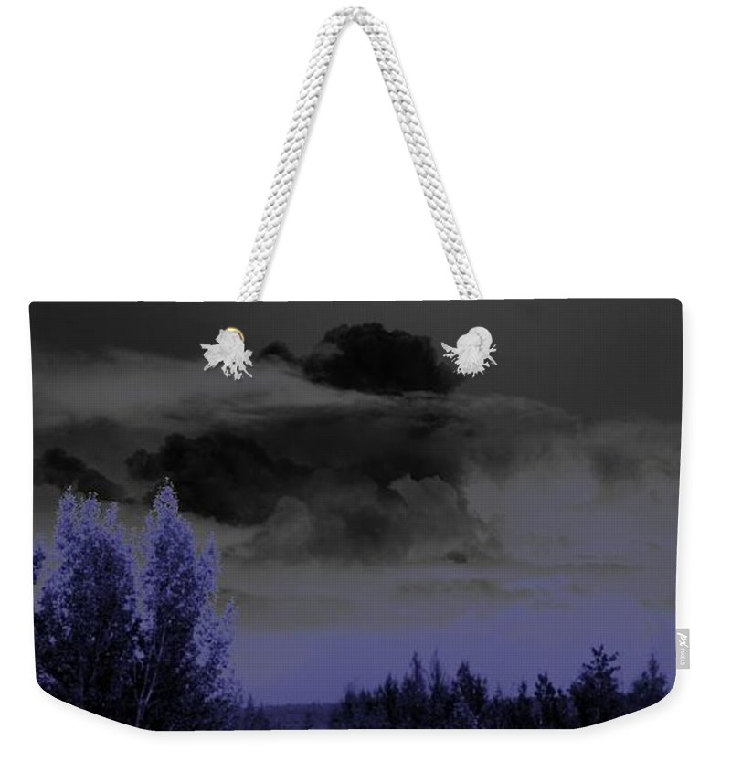 Abstract Weekender Tote Bag featuring the photograph Purple Haze by Ron Bissett