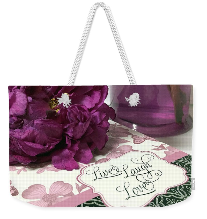 Purple Lavender Peonies Live Laugh Love Inspirational Peony Print