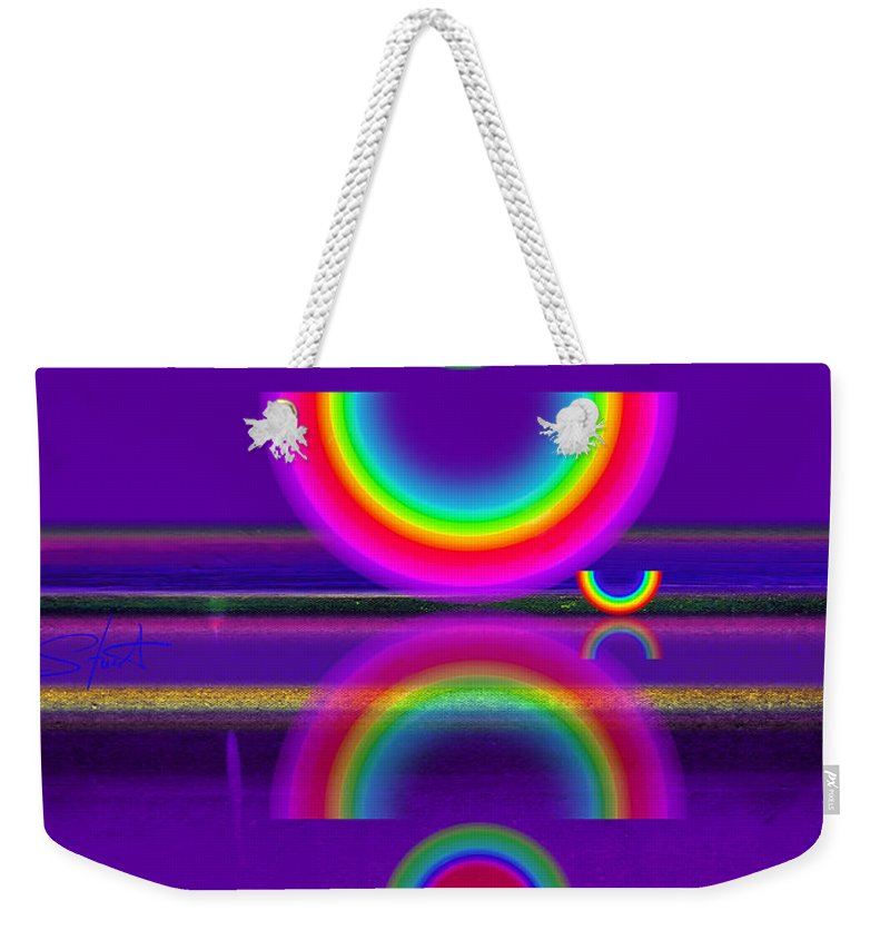 Reflections Weekender Tote Bag featuring the painting Purple Moon by Charles Stuart