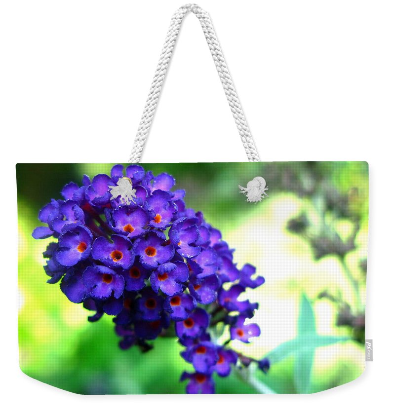 Butterfly Bush Weekender Tote Bag featuring the photograph Purple Peace by Brittany Horton