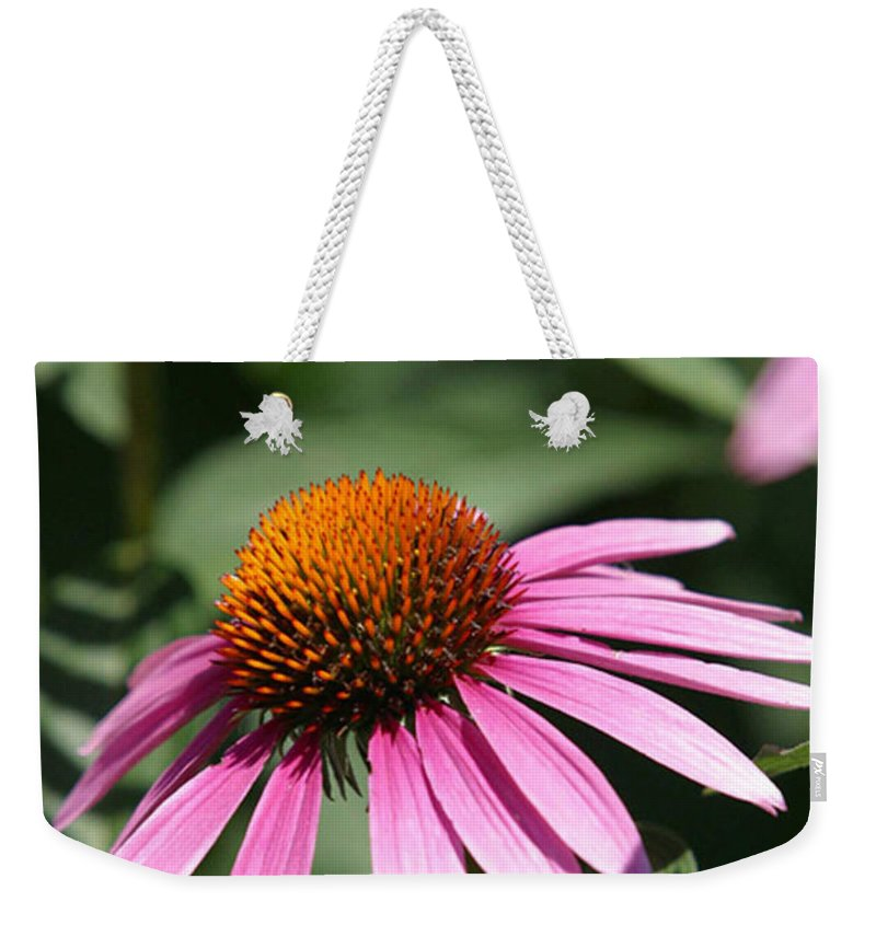 Alternative Weekender Tote Bag featuring the photograph Purple Petals by Alan Look
