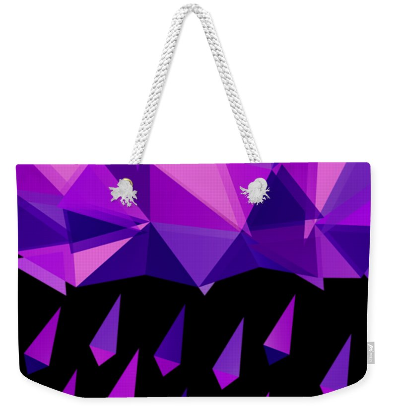 Purple Rain Weekender Tote Bags