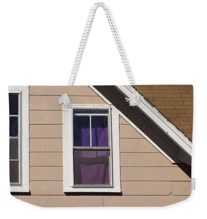 Purple Weekender Tote Bag featuring the photograph Purple Shade Composition by Bill Tomsa