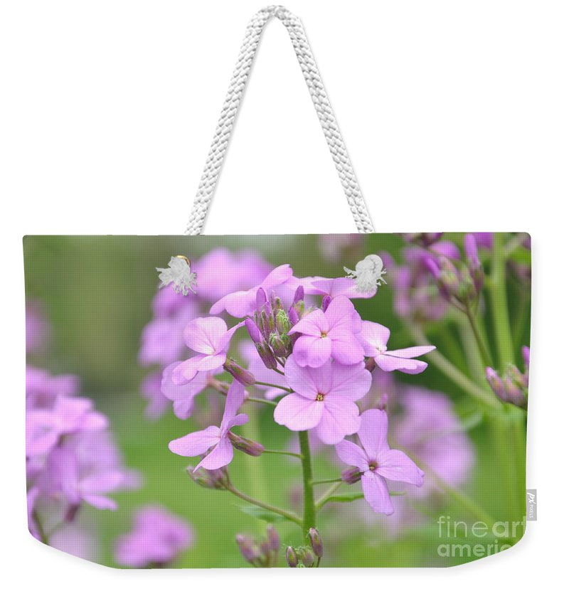 Flower Weekender Tote Bag featuring the photograph Purple Wildflowers Two by Juanita Doll