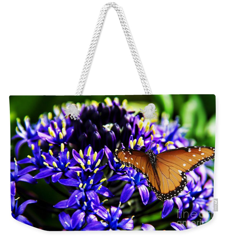 Purple World Weekender Tote Bag featuring the photograph Purple World by Mariola Bitner