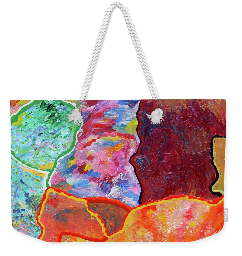 Fusionart Weekender Tote Bag featuring the painting Puzzle by Ralph White