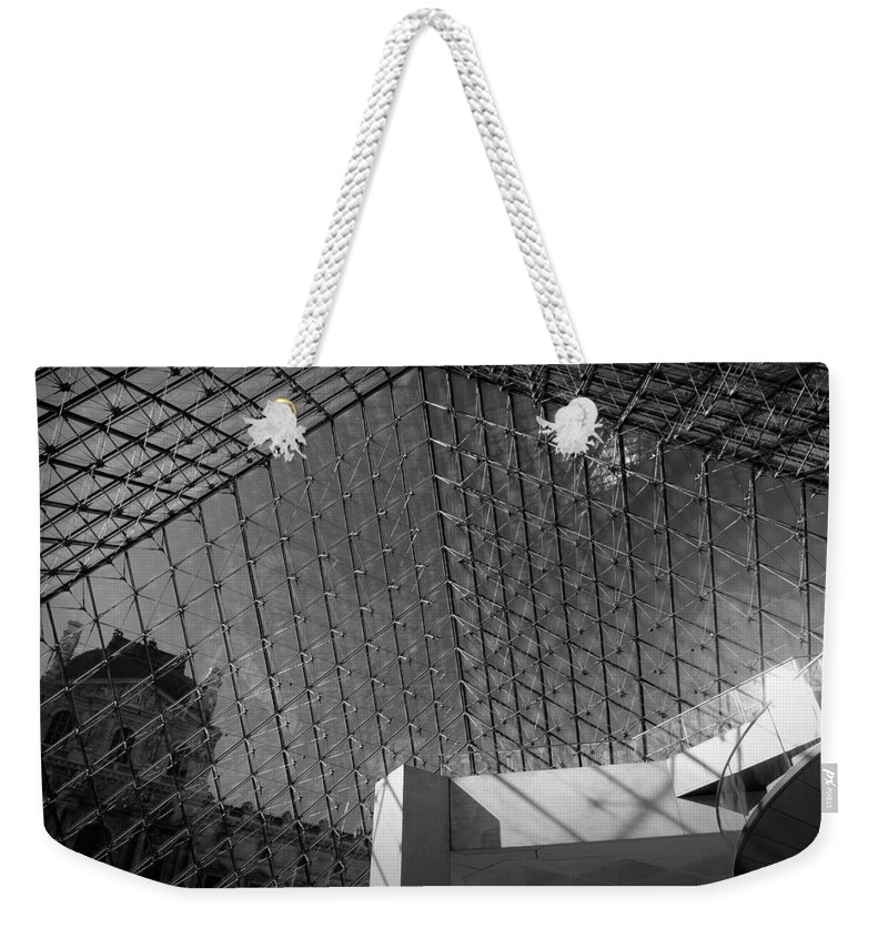 Architecture Weekender Tote Bag featuring the photograph Pyramide Du Louvre by Sebastian Musial