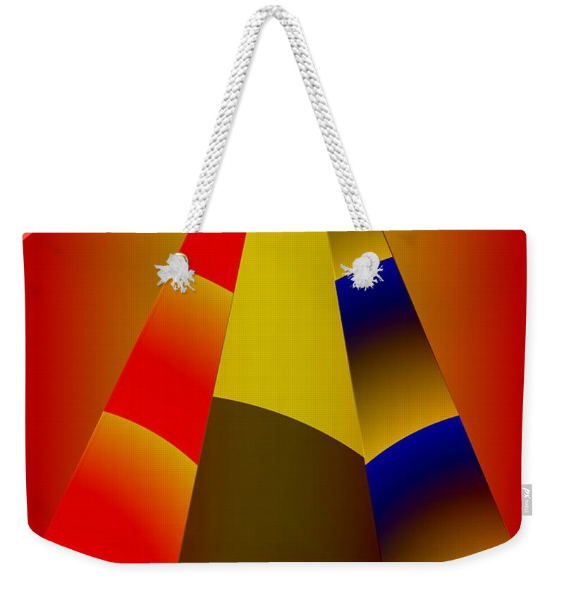Pyramids Weekender Tote Bag featuring the digital art Pyramids Pendulum by Helmut Rottler